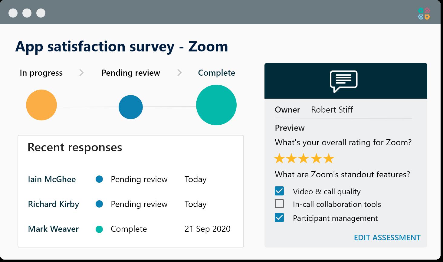 User engagement survey admin