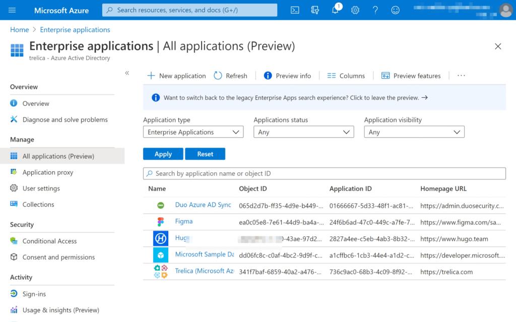 Microsoft 365 Enterprise Applications management