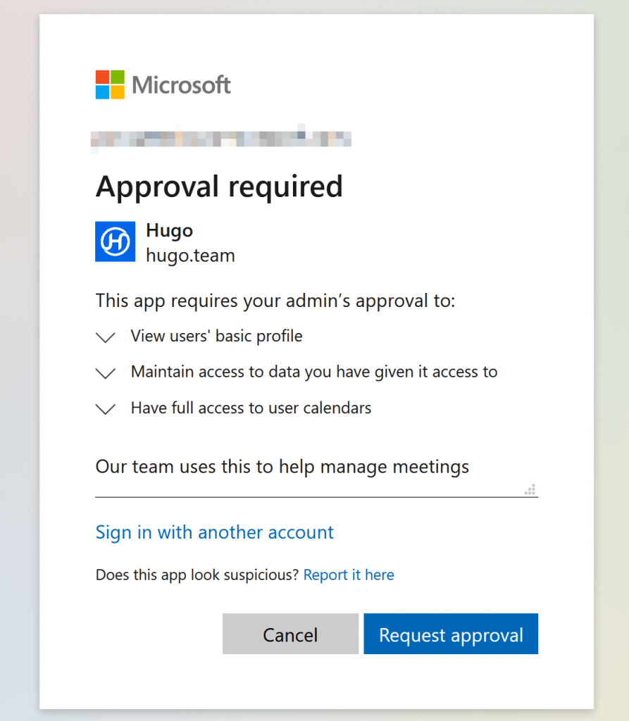 OAuth approval required